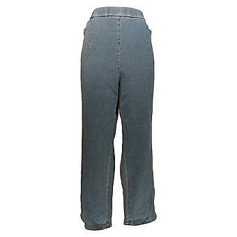 Quacker Factory Women's Petite Pants Dream Jeannes Pull-On Blue A344054