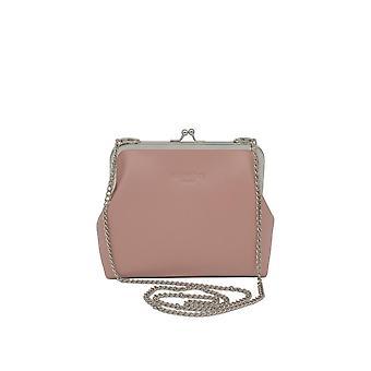 WILLOW BAY AU VINTAGE CLUTCH VEGAN LEDER - Blush Pink