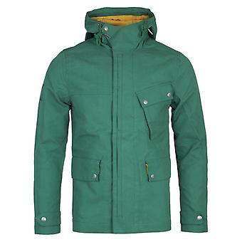 Pretty Green Contrast Lining Green Hooded Jacke