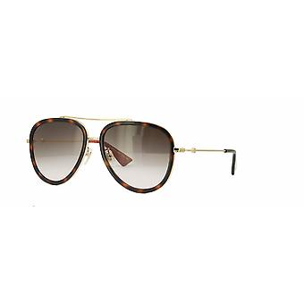 Gucci GG0062S 012 Gold-Havana/Brown Gradient  Glasses
