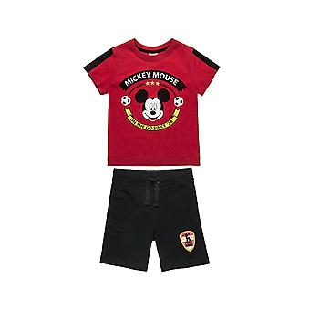 Alouette Boys' Disney Mickey Mouse Set Printed And Browned Shirt