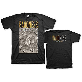 Baroness Gold & Grey Official Tee T-Shirt Mens Unisex