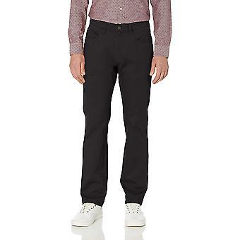 Goodthreads Men's Straight-Fit 5-Pocket Chino Pant, Black, 32W x 32L