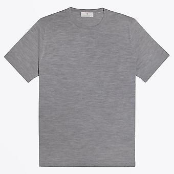 Thomas Maine  - Merino Crew Neck T-shirt - Light Grey