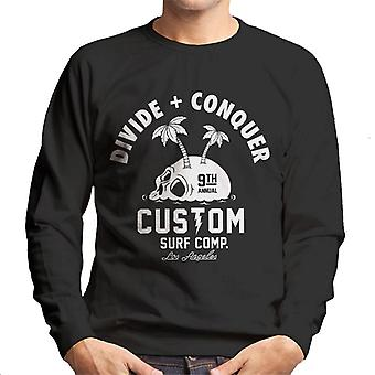 Opdel & erobre Custom surf comp mænd ' s sweatshirt