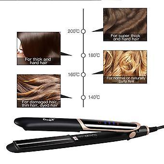 Professional Hair Straightener - Curler Hair Flat Iron Negative Ion Infrared Hair Straighting
