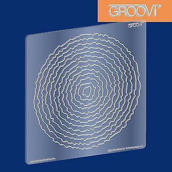 Groovi Plate Circle Deckle