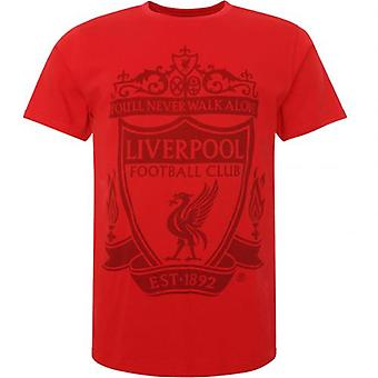 Liverpool Crest T Shirt Mens Red XXL