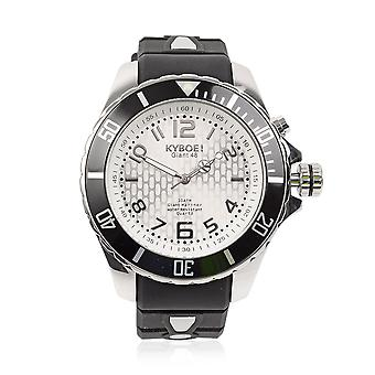 KYBOE Japanese Movement 100M Water Shine LED Men Watch Steel with Rotating Bezel