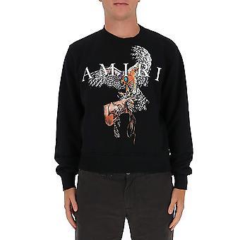 Amiri W0m02539teblk Men's Black Cotton Sweatshirt