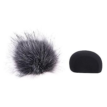 Foam Mic Wind Cover Furry Windscreen Muff For Zoom H5 H6 Recorder Microphone