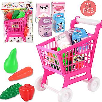 Shopping Cart Fruits And Vegetables Pretend To Play Children Kids Educational Toys