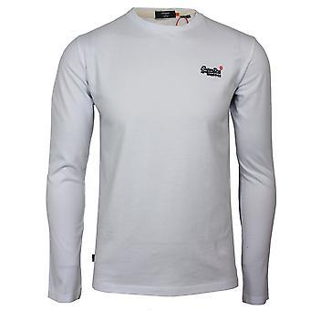 Superdry men's ol vintage emb ls optinen valkoinen t-paita