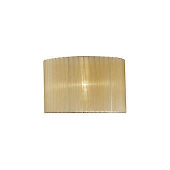 Okrągły organza odcień miękki brąz 360mm x 230mm, nadaje się do lampy stołowej
