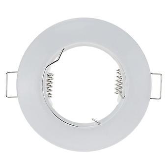 Fém fehér kerek vízálló, süllyesztett -spotlámpa szerelőkeret