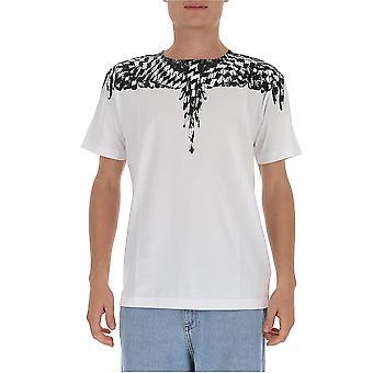 Marcelo Burlon Cmaa018f20jer0030110 Heren's White Cotton T-shirt