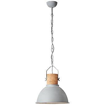 LAMPADA BRILLIANT Frida Lampada a sospensione 39cm in cemento/legno 1x A60, E27, 60W, adatto per lampade normali (non incluse) Scala