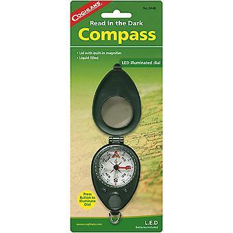 Coghlan's Compass met LED Light Illuminated w/ Ingebouwde vergrootglas, opvouwbare behuizing