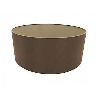 60 Cm Cylinder Tyg Lampskärm Rå Kakao/grekisk brons