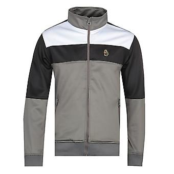 Luke 1977 Odin Colour Grey Block Funnel Collar Jacket