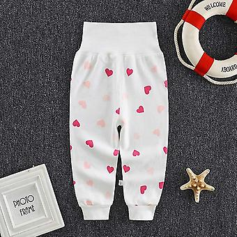 Autumn Spring Newborn Baby Pants High Waist Leggings Cotton Clothes Trousers