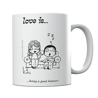 Kærlighed er at være en god lytter krus