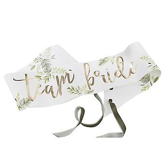Botanical Team Bride Hen Paper Party Sashes x 6
