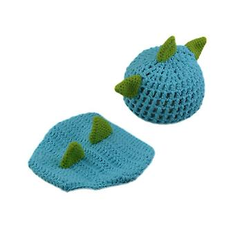 Cute Dinosaur Baby Boys Crochet Photo Props- Animal Costume Knitted Infant Baby Coming Home Outfits Newborn Photography Props (17026)
