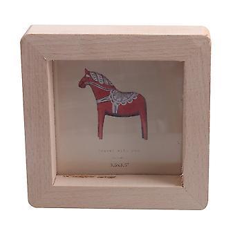 Drewniane zdjęcie zwięzły rodzinny zdjęcie ramka do przechowywania dekoracji