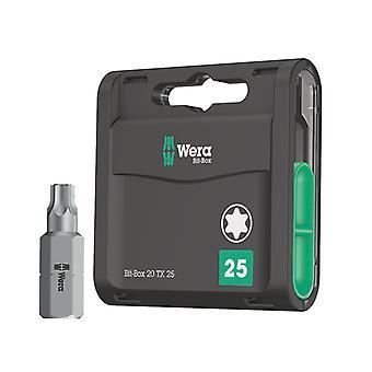 Wera-bittilaatikko 20 H Erittäin kovat bitit TX25 x 25mm 20 kpl WER057773