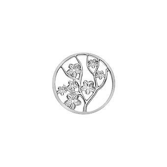 Emozioni Sterling Zilveren Plaat Fiore 25mm Coin EC508