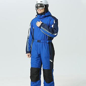 Hoodie Men Snow Jumpsuit- Sport Winter Man Skiing Overalls Fleece Women