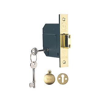 Yale PM562PB25 HiSecurity BS 5 Alavanca Mortice Dead Lock 67mm 2.5in Latão polonês