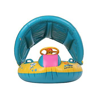 Inflatable Baby Swimming Ring Pool- Pvc Infant Adjustable Sunshadeseat Pool