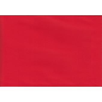 Scatola pilastro Buccia rossa/Guarnizione C4/A4 Buste rosse colorate. Carta certificata 120gsm Luxury FSC. Busta pocket style da 229 mm x 324 mm.