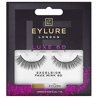 Eylure Luxe 6D Strip Lashes - Excelsior - Faux Mink False Eyelashes with Glue