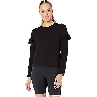 Brand - Core 10 Women's (XS-3X) Cloud Soft Yoga Fleece Ruffle Sleeve C...