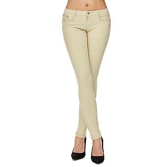Kvinner slanke Jeans bukser pastell Tube strekk Hipster rør treggings forme opp