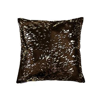 """18"""" x 18"""" x 5"""" Gold And Chocolate Quattro - Pillow"""