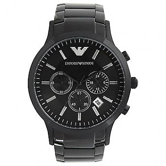 Armani AR2453 Emporio Gents Black Stainless Steel Watch