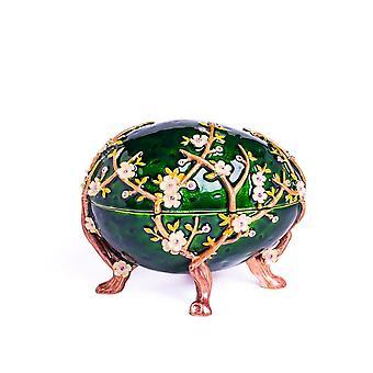 Jablkový kvet Faberge Egg-trinket Box