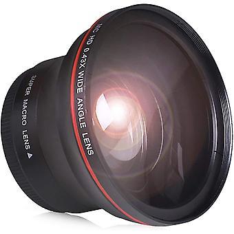 52MM 0.43x Professional HD Wide Angle Lens (w/Macro Portion) for Nikon Cameras