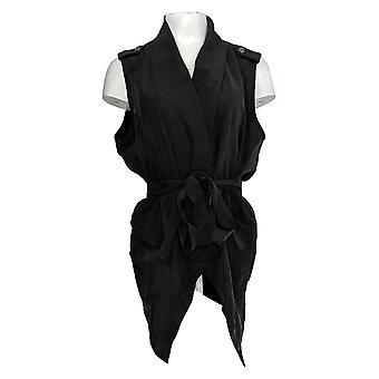 Rachel Hollis Ltd Women's Plus Travel Vest Black A368532