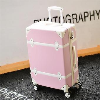 Retro Rolling Luggage Set