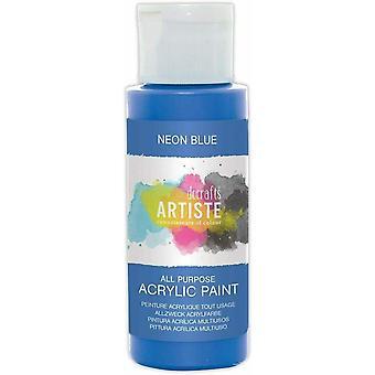 Docrafts Artiste Acrylique 59ml Bleu néon