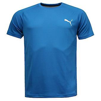 Puma UV Block Tee Short Sleeves Mens DryCell T-Shirt Blue Top 592769 17 R3D