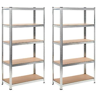 2 x Shelf Shelf Plug-in Shelf Metal Shelf Cellar Shelf