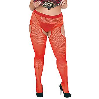 Plus Size Tights STP/01/5 red Size: Size 5