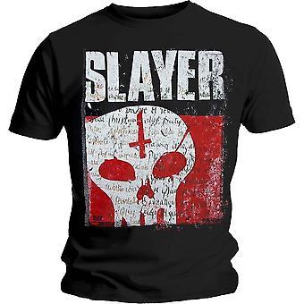 Slayer Undisputed Attitude Skull Official Tee T-Shirt Mens Unisex