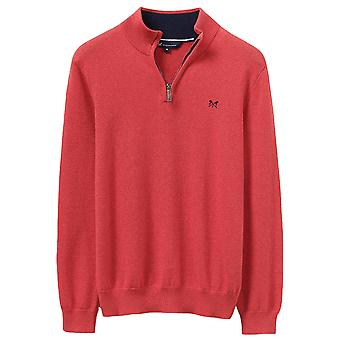 Crew Clothing Mens Classic Half Zip Knit Casual Sweatshirt